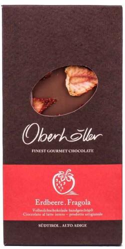 Vollmilchschokolade mit Erdbeere