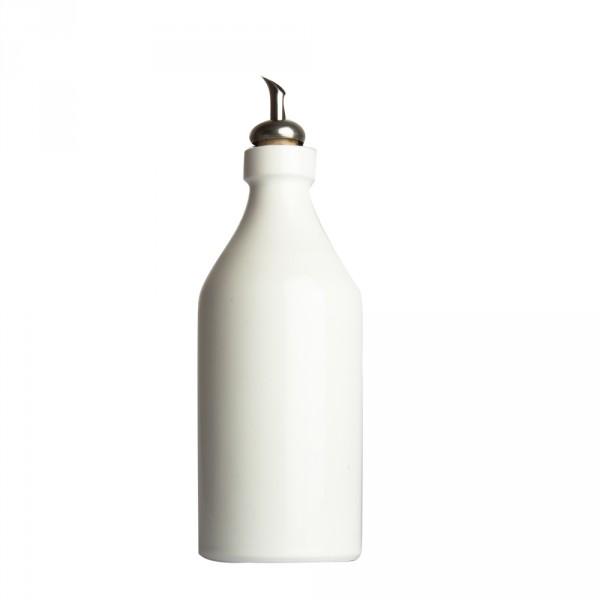 Ölflasche Keramik weiß