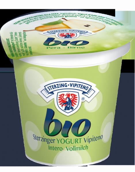 Birne Vollmilchjoghurt aus Heumilch Bio - Milchhof Sterzing