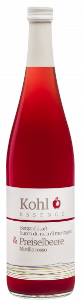 Mela di montagna con Mirtillo rosso - Kohl - Bergapfelsäfte