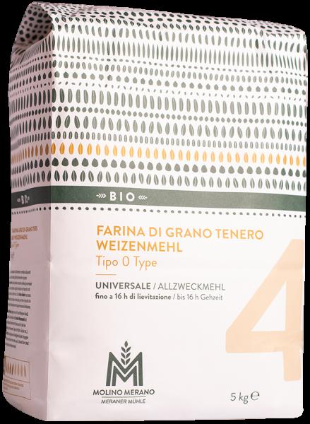 Weizenmehl Nr. 4 Type 0 Bio - Meraner Mühle