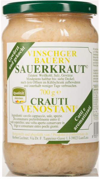 Vinschger Sauerkraut gewürzt