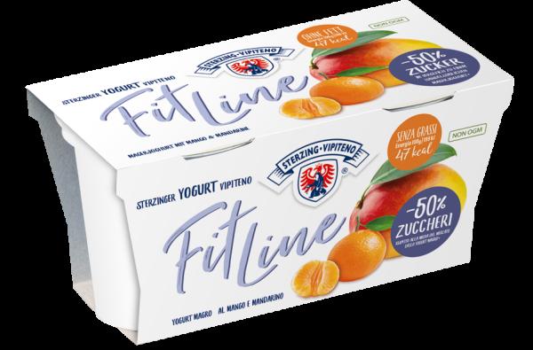 Magermilchjoghurt Fitline Mango & Mandarine - Milchhof Sterzing