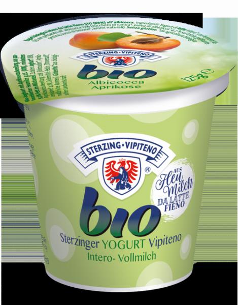 Aprikose Vollmilchjoghurt aus Heumilch Bio - Milchhof Sterzing