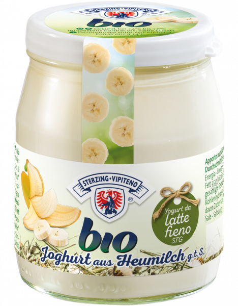 Banane Vollmilchjoghurt aus Heumilch Bio 150g - Milchhof Sterzing