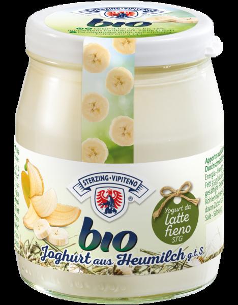 Banana Yogurt intero al latte fieno Bio - Milchhof Sterzing