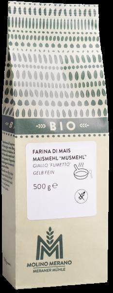 Maismehl gelb fein glutenfrei Bio - Meraner Mühle