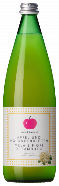 Apfelsaft naturtrüb mit Holunderblüte - Weissenhof