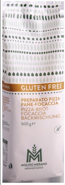 Pizza-Brot-Focaccia Backmischung glutenfrei - Meraner Mühle