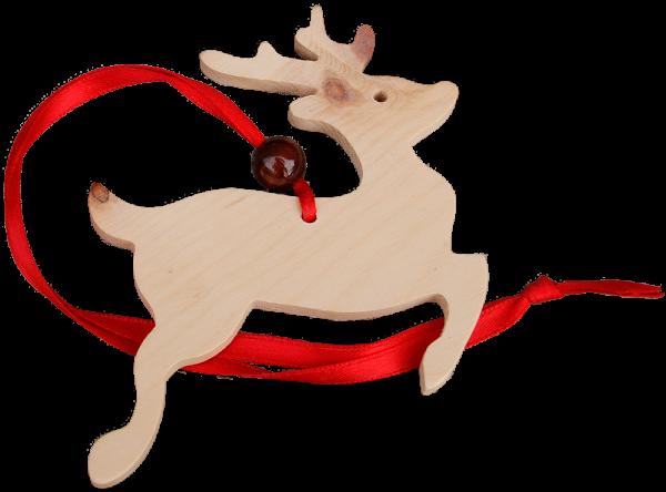 """""""Rentier"""" Weihnachtsanhänger aus Zirmholz - Schnalser Säge"""