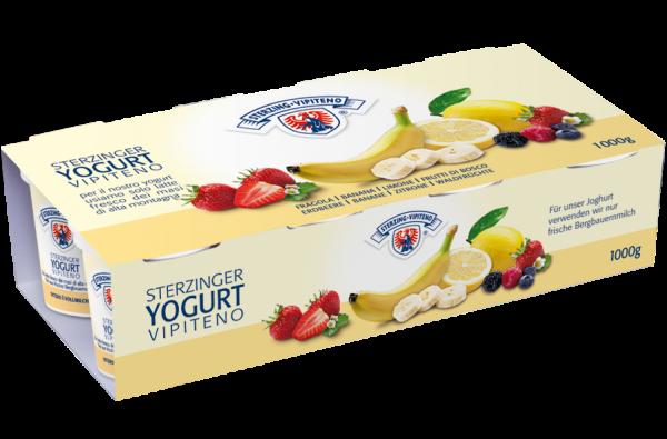 Vollmilchjoghurt Zitrone & Erdbeere & Waldfrüchte & Banane - Milchhof Sterzing