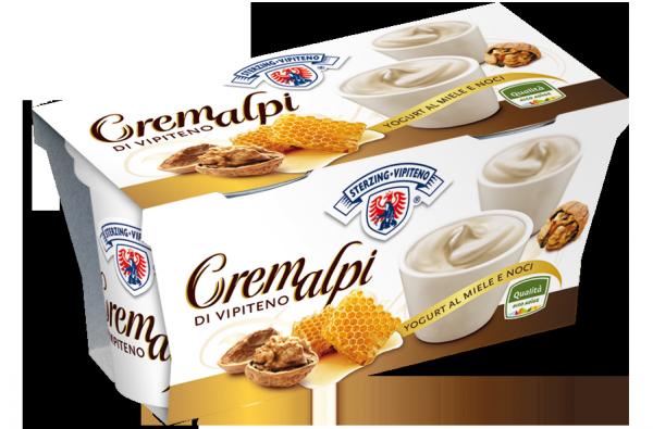 Miele e noci yogurt Cremalpi - Milchhof Sterzing