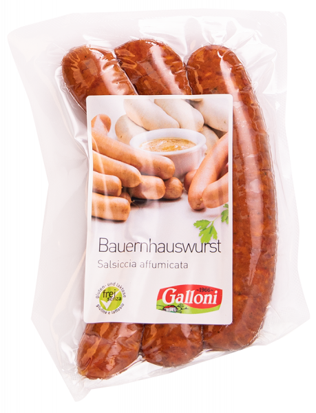 Salsiccia del contadino affumicata 3 paia - Galloni Meran/o