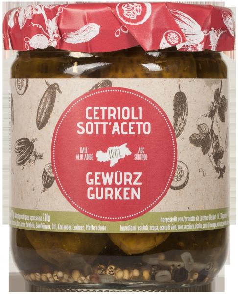 Cetrioli sott'aceto dell'Alto Adige