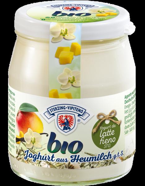 Mango-Vanille Vollmilchjoghurt aus Heumilch Bio - Milchhof Sterzing