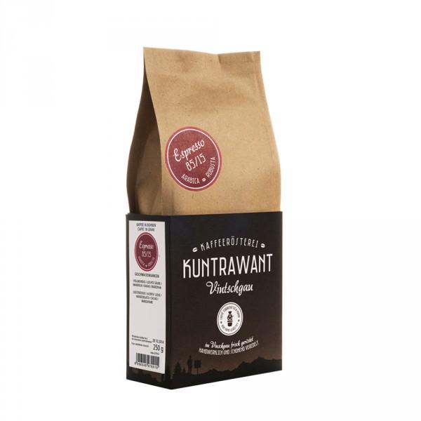 Espresso 85% Arabica 15% Robusta grani Bio