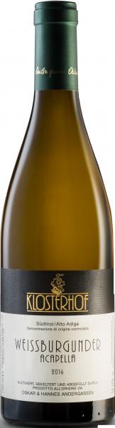 """Pinot Bianco """"Acapella"""" 2018 - Weingut Klosterhof"""