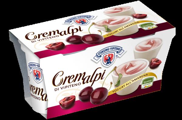Sauerkirsche Joghurt Cremalpi - Milchhof Sterzing