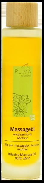 Olio per massaggio rilassante Melissa Bio - Plima Südtirol