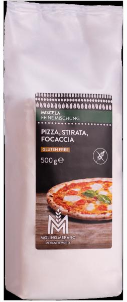 Miscela per pizza, stirata, focaccia senza glutine - Meraner Mühle