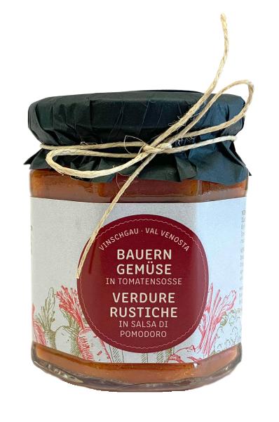 Vinschger Bauerngemüse in Tomatensoße