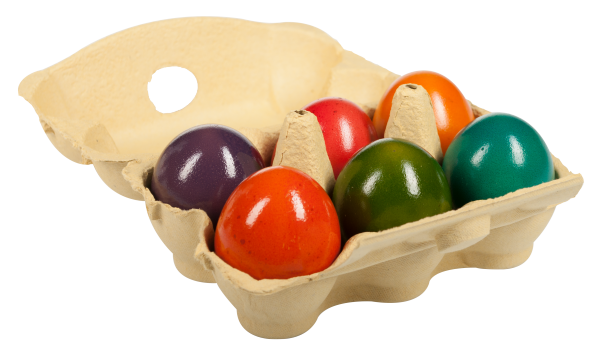 Uova di campagna cotte e colorate