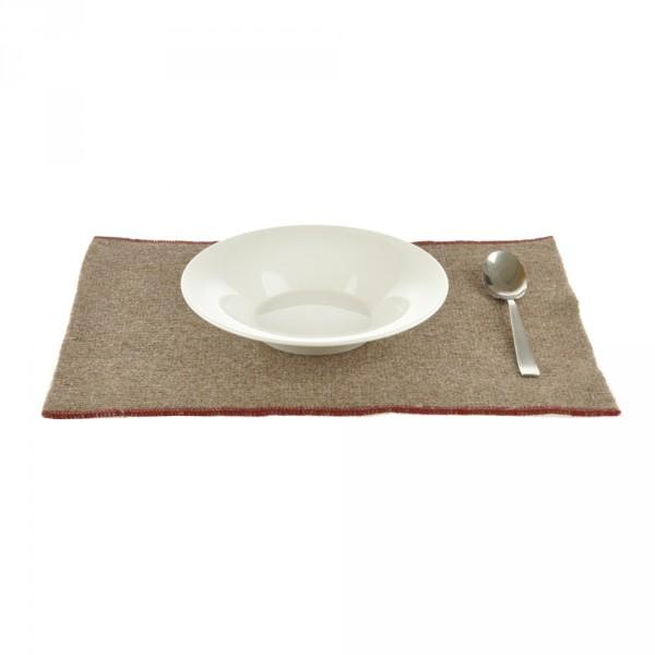 Pur Manufactur Tischset hellbraun Wolle