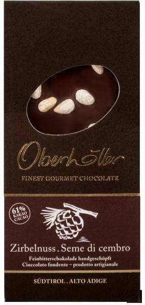 Feinbitterschokolade Zirbelnuss - Oberhöller