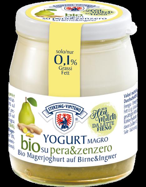 Magerjoghurt auf Birne und Ingwer Bio - Milchhof Sterzing