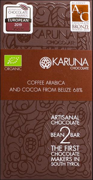 Cioccolato 68% Arabica bio - Karuna