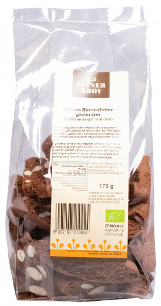 Herrenfutter Schoko & Haselnuss glutenfrei Bio - Ultner Brot