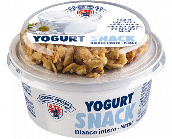 Yogurt Snack Natur mit Knusper Müsli - Milchhof Sterzing