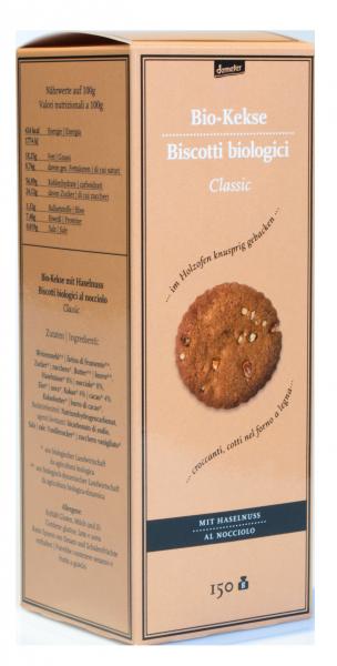 Bio Kekse Classic mit Haselnuss