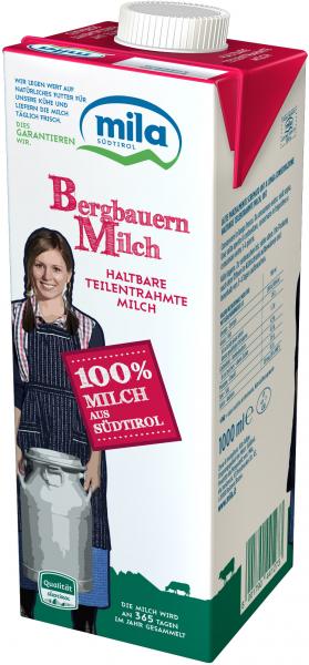 Latte UHT parzialmente scremato - Mila Bergmilch