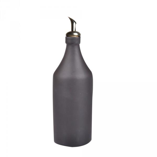 Ölflasche Keramik schwarz