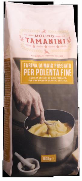 Maisgrieß gelb fein für Polenta - Meraner Mühle