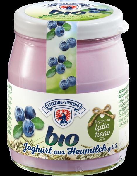 Mirtillo Yogurt intero da latte fieno Bio - Milchhof Sterzing