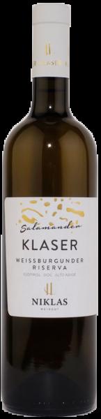"Pinot bianco Riserva ""Klaser Salamander"" 2017 - Weingut Niklas"