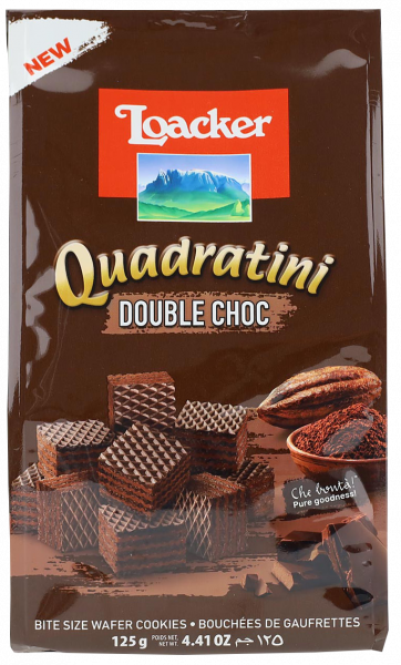 Quadratini Double Choc - Loacker