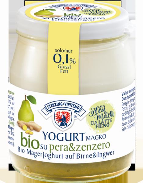 Yogurt magro su pera e zenzero Bio - Milchhof Sterzing