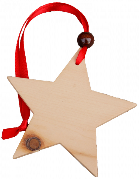Pendente natalizio in cirmolo - stella - Schnalser Säge