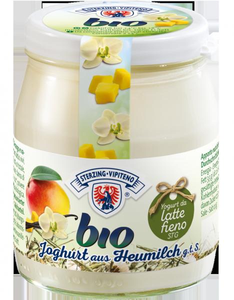 Mango e vaniglia Yogurt intero da latte fieno Bio