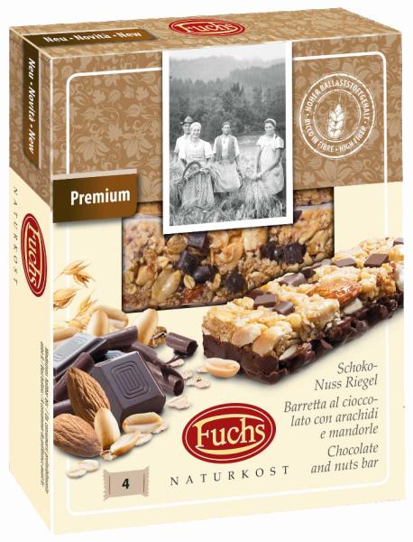 Barretta al cioccolato con mandorle e arachidi - Fuchs Privatmühle