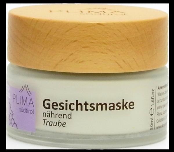 Maschera viso nutrirente Uva Bio - Plima Südtirol