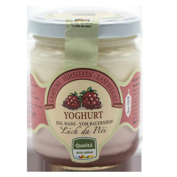 Himbeer-Joghurt vom Bauernhof
