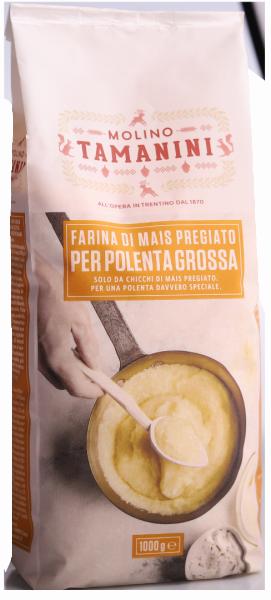 Maisgrieß gelb grob für Polenta - Meraner Mühle