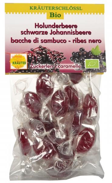 Holunderbeere - schwarze Johannisbeere Zuckerlen Bio