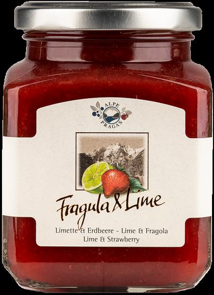Fruchtaufstrich Erdbeere und Limette - Alpe Pragas