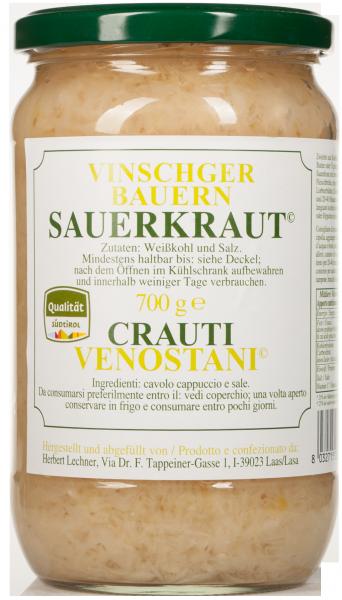 Vinschger Sauerkraut natur