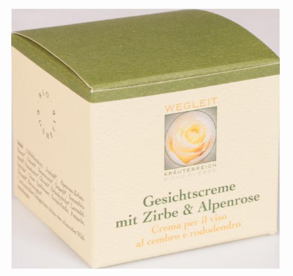 Gesichtscreme Zirbe und Alpenrose - Kräuterreich Wegleit